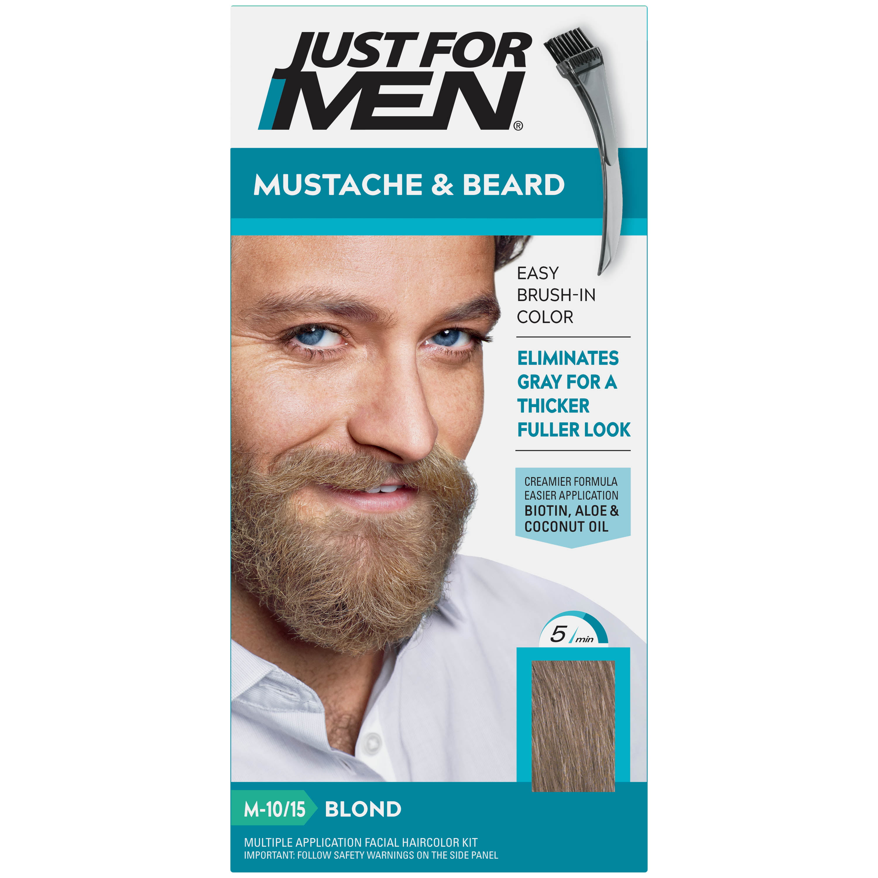 Just For Men Mustache Beard Beard Coloring For Gray Hair With Brush Included Color Blond M 10 15 Walmart Com Walmart Com
