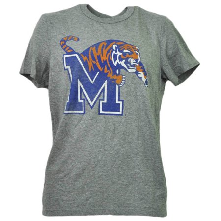 NCAA Memphis Tigers Distressed Gray Adult Mens Tshirt Tee Short Sleeve Sports SM