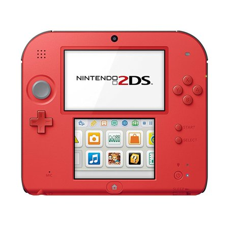 Nintendo 2Ds With Mario Kart 7  Crimson Red