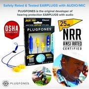 Best Work Headphones - Plugfones Basic Pro Wireless Bluetooth in-Ear Earplug Earbuds Review