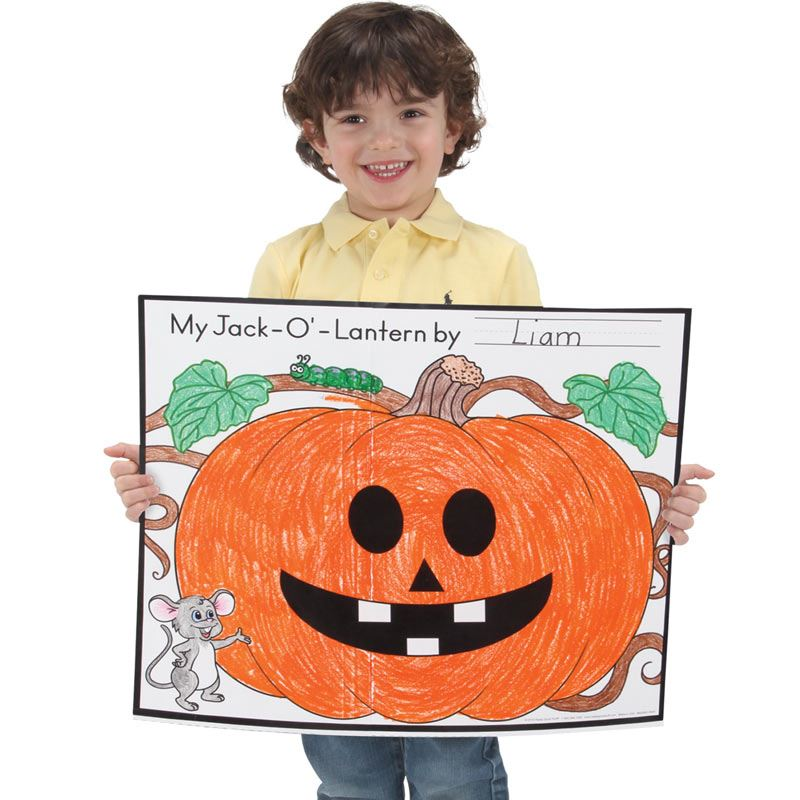 Ready-To-Decorate? Cut And Color Jack-O'-Lantern Posters