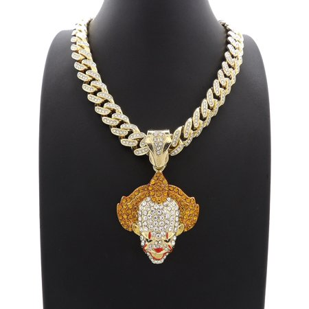 - Hip Hop Fashion Iced Out Pennywise Pendant w/ 18