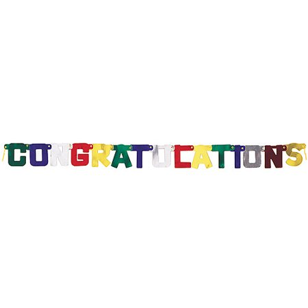 Deluxe Congratulations Jointed Banner  6 1 2