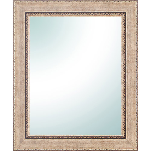 "Click here to buy 28"" x 34"" Champagne Ornate Vanity Mirror."