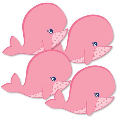 Tale Of A Girl Whale - Decorations DIY Baby Shower or Birthday Party Essentials - Set of 20 - Baby Girl Birthday Decorations