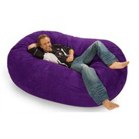 RelaxSacks 6OV-MS010 6 ft.  RelaxSack Lounger - Microsuede Purple