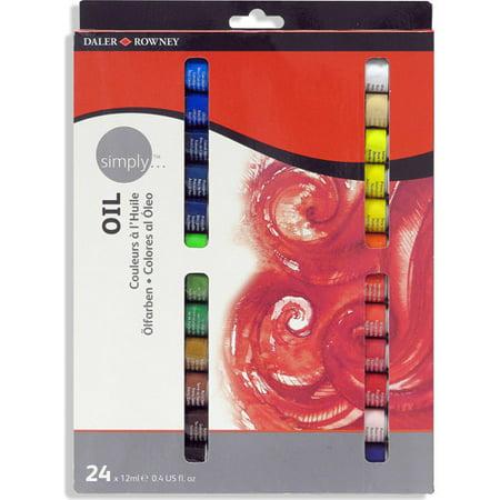 simply oil 24 color paint set