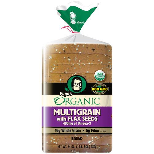 Papa's Organic Multigrain Bread with Flax Seeds, 24 oz