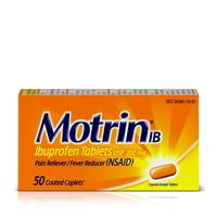 Motrin IB, Ibuprofen 200mg Tablets for Pain & Fever Relief, 50 ct.