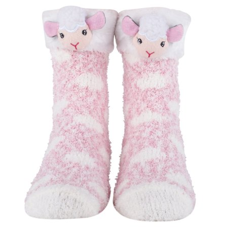 cozy christmas and furry critter socks with santa reindeer and more soft and plush socks for women lamb walmartcom - Walmart Christmas Socks