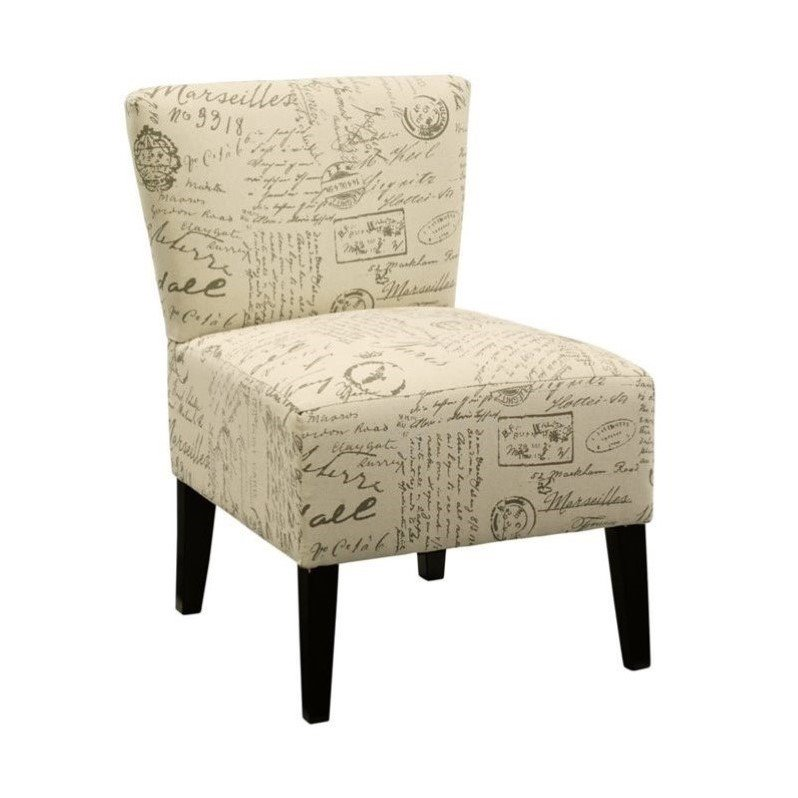 Ashley Ravity Fabric Accent Chair in French Script Taupe by Ashley Furniture