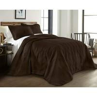 Chezmoi Collection Kingston 3-Piece Oversized Bedspread Coverlet Set