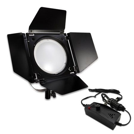 Loadstone Studio Video Studio Dimmable LED Barndoor Continuous Light Kit with Carry Case, Neutral Day Light Tone 5500 Kelvin, Photo Studio, WMLS4654