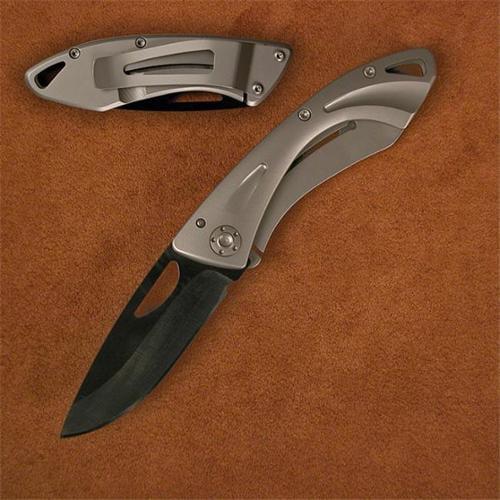 Stone River Gear SRG1MCB Ceramic Money Clip Folding Knife with Titanium Handle, Black 2-. 50 inch Blade