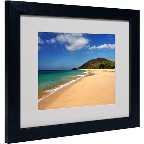 "Trademark Fine Art ""Makena Hawaii"" Matted Framed Art by Pierre Leclerc"