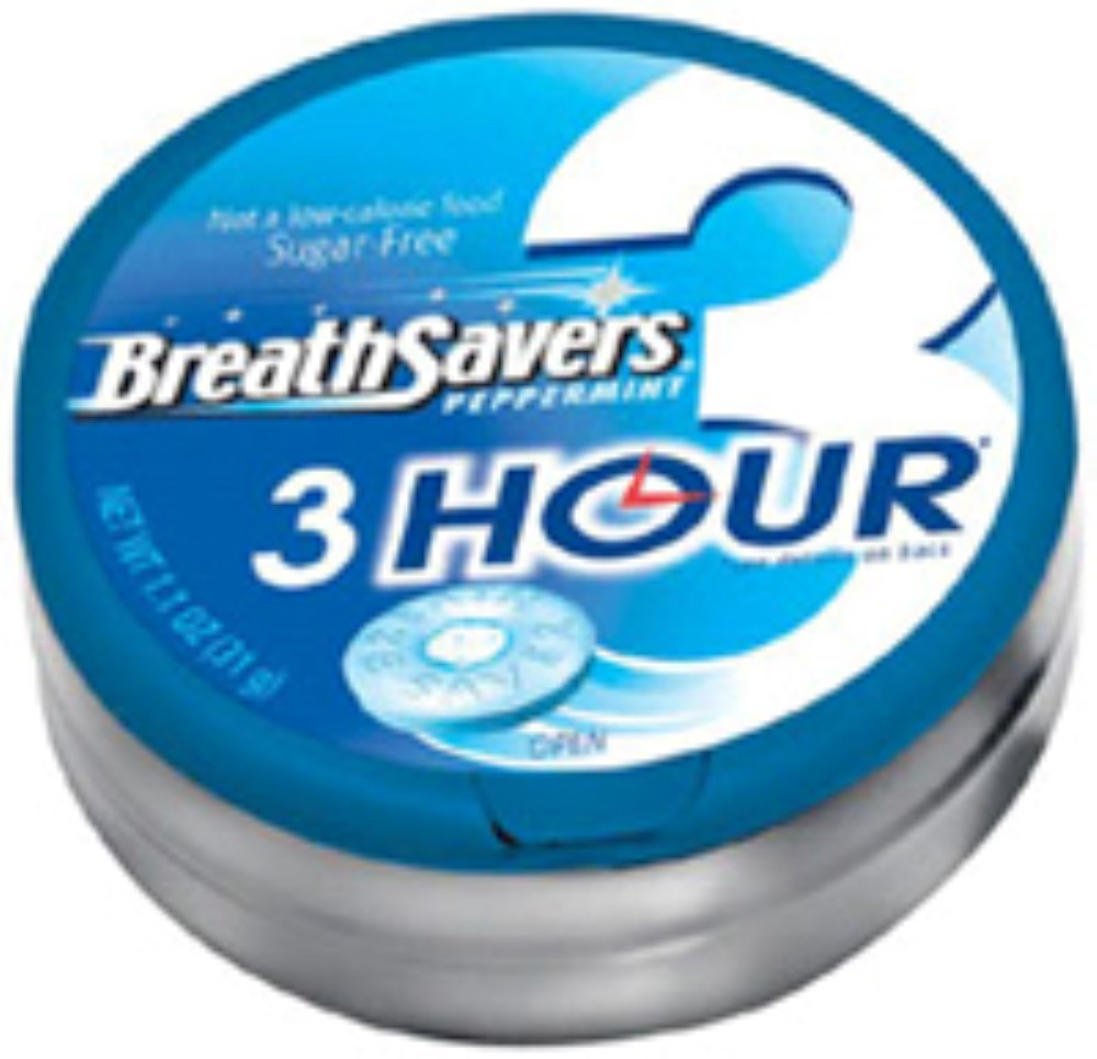 4 Pack - Breath Savers 3-Hour Peppermint 8 Pack (1.1 oz per pack)