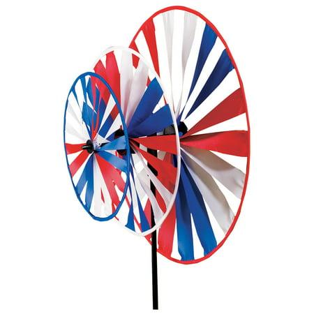 Patriotic Triple Pinwheel Windspinner](Pin Wheels)