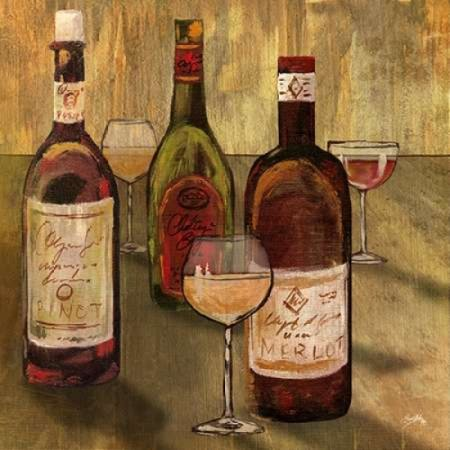 Bottle Of Wine I Poster Print By Elizabeth Medley