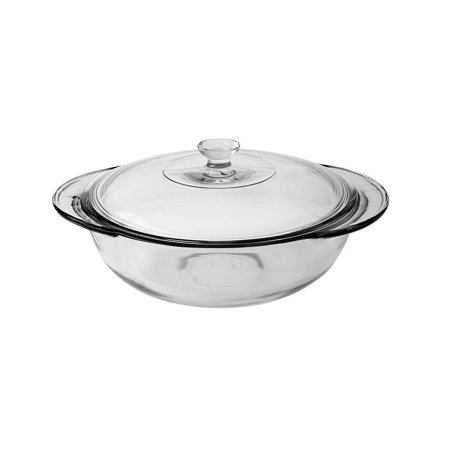 Oval Casserole Baking Dish with Cover - 2 Qt