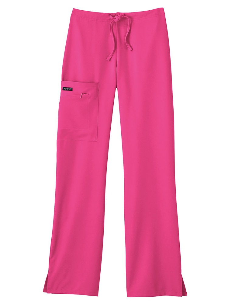 Jockey Half Elastic Half Drawstring Zipper Pocket Pant Scrub Bottoms