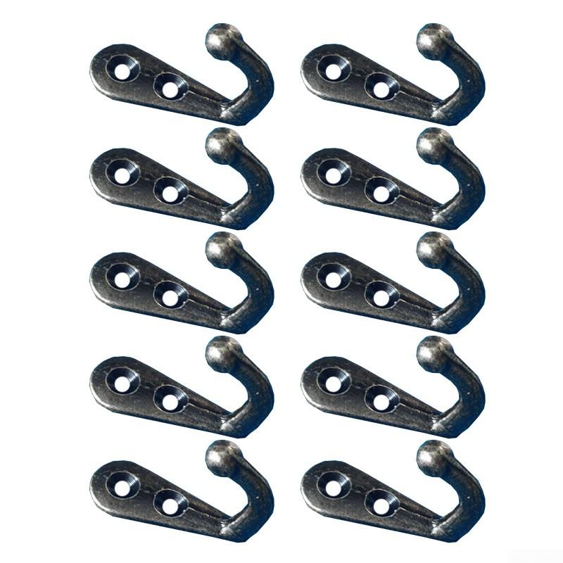 10pcs Antique Zinc Alloy Small Hook Wall Mounted Door Hooks Hat Coat Key Hanger
