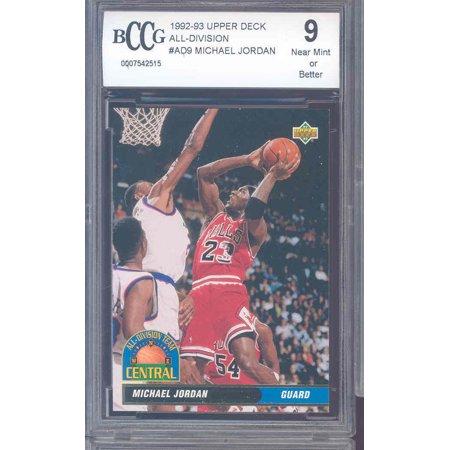 1992-93 upper deck all-division #ad9 MICHAEL JORDAN chicago bulls BGS BCCG 9 Chicago Bulls 1998 Upper Deck