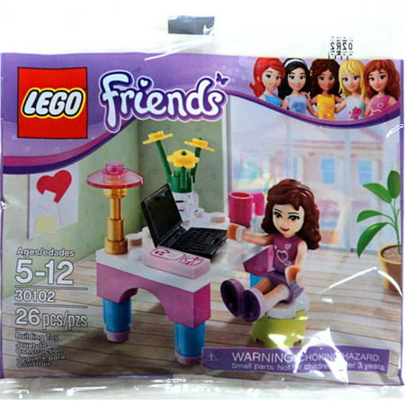 Lego friends set 30102 olivias desk price compare for Olivia s garden pool instructions