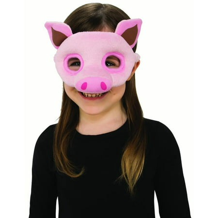 Childs Piglet Pink Pig Piggy Plush Farm Animal Costume Half Mask