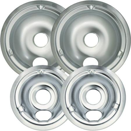 Universal Chrome Reflector Drip Pan Bowl