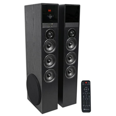 Rockville TM150B Black Home Theatre System Tower Speakers 10