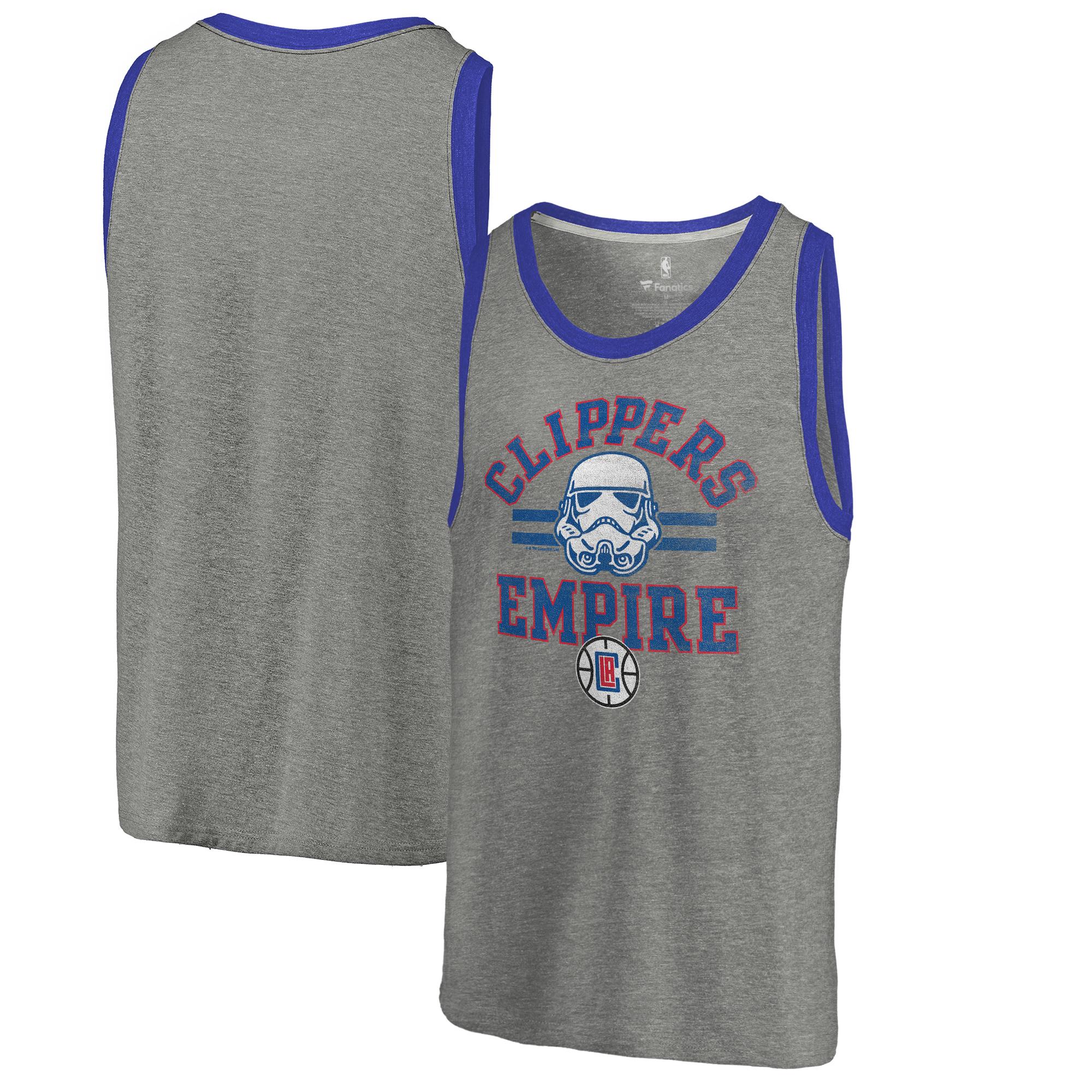 LA Clippers Fanatics Branded Star Wars Empire Tri-Blend Tank - Heathered Gray