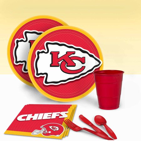Kansas City Chiefs Tableware Party Pack for 16 - Party City Products