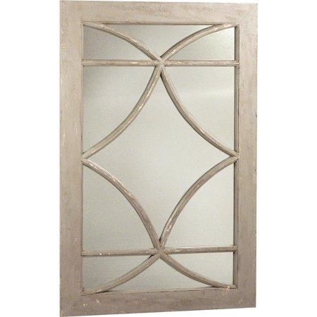 Wall Mirror Dovetail Bacca Distressed Gray Paint Solid Wood Flat Polished (Best Way To Distress Painted Furniture)