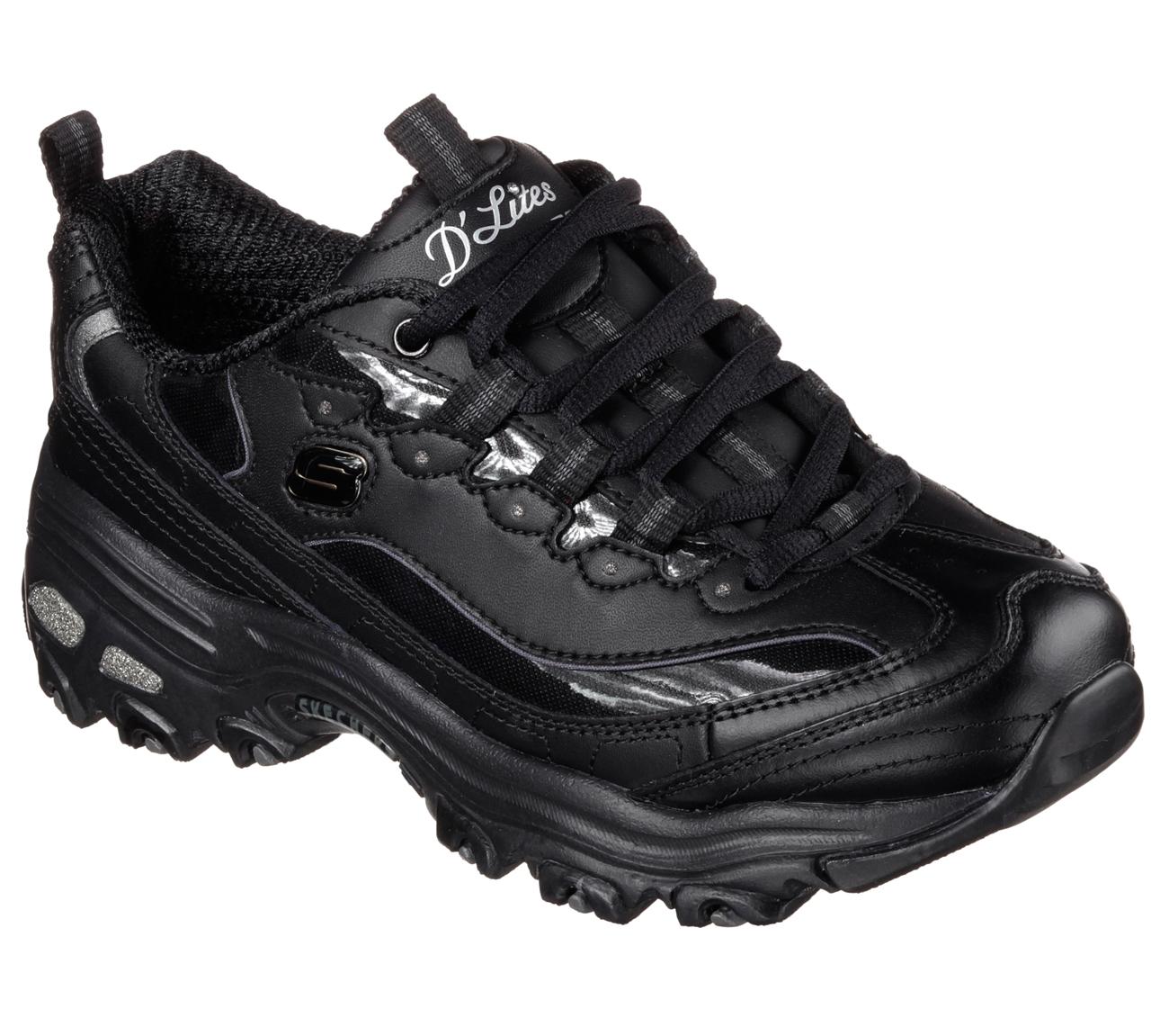 Skechers 11931BBK Women's D'LITES - FRESH START Walking Shoes