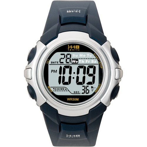 Timex Men's 1440 Sports Watch, Grey Resin Strap