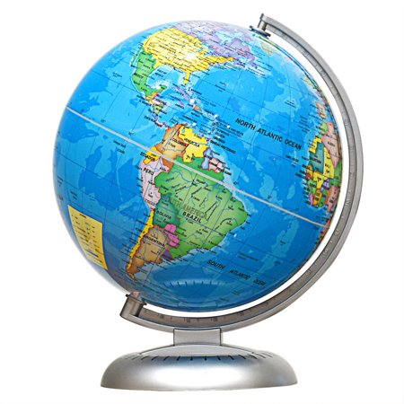 Map Of The World Globe View.8 Illuminated World Globe Up To Date W Stand Built In Led Night