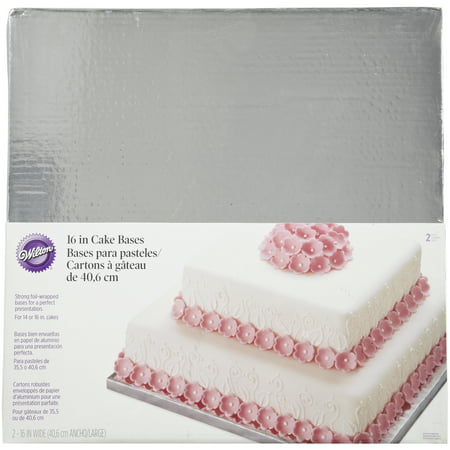 Wilton Silver Foiled Wrapped Bases for Cakes, 2 count