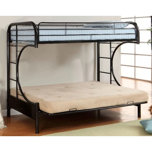 Zoomie Kids Quezada Twin Over Full Futon Bunk Bed