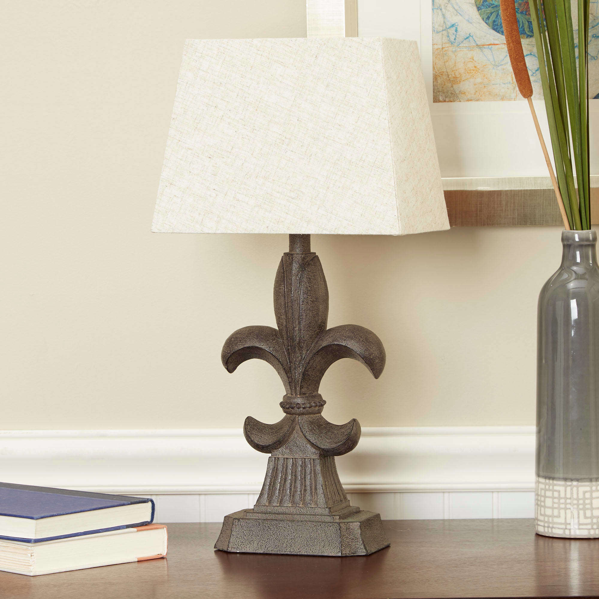 Delightful Better Homes And Gardens Fleur De Lis Accent Table Lamp With Shade