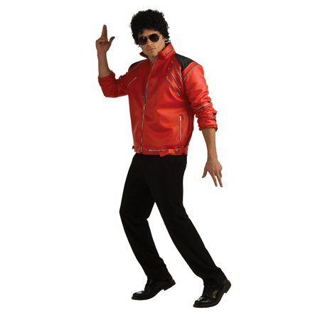Michael Jackson Deluxe Red Zipper Jacket Adult Costume - Michael Jackson Halloween Costume Walmart