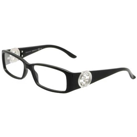 7d496da2b0336 Womens Eyeglasses 3136 D28 15 Plastic Rectangle Shiny Black Frames -  Walmart.com