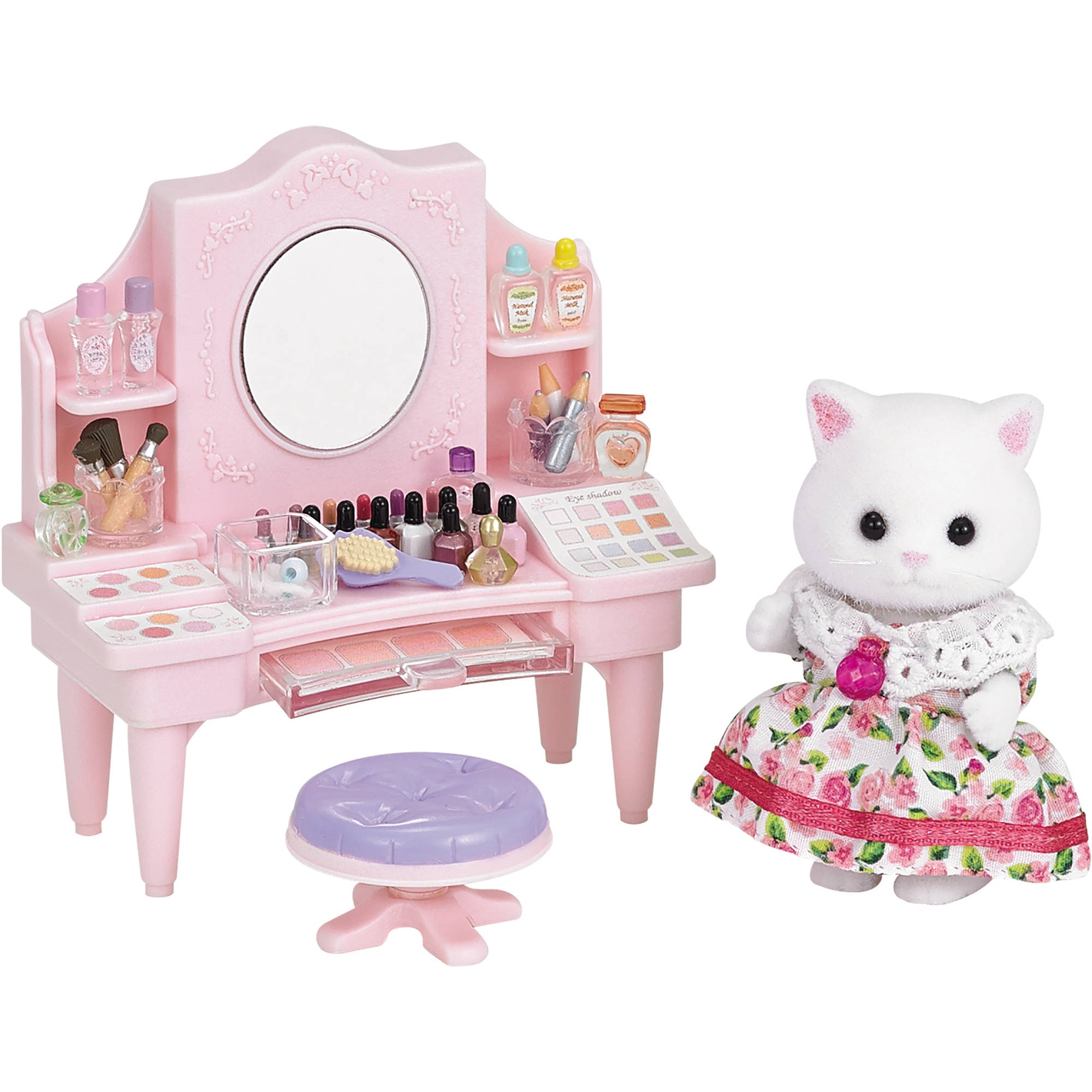 Calico Critters Cosmetic Counter with Nora Persian Cat