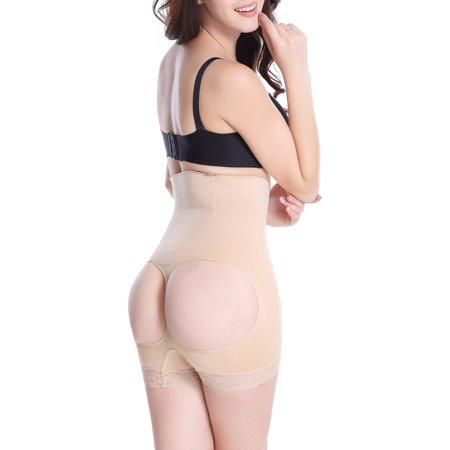 8d72db6461c Lelinta - LELINTA Women s High Waist Butt Lifter Body Shaper Seamless Tummy  Control Panty Thigh Slimming Boyshort Shapewear - Walmart.com