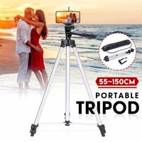 Portable Adjustable 1.5m Digital Camera Tripod Stand With Mount Holder Clip Bracket