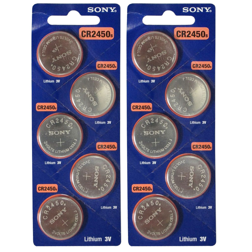 10pk Sony Coin Cell Battery CR2450 3V Lithium Replaces DL2450, BR2450 FAST SHIP