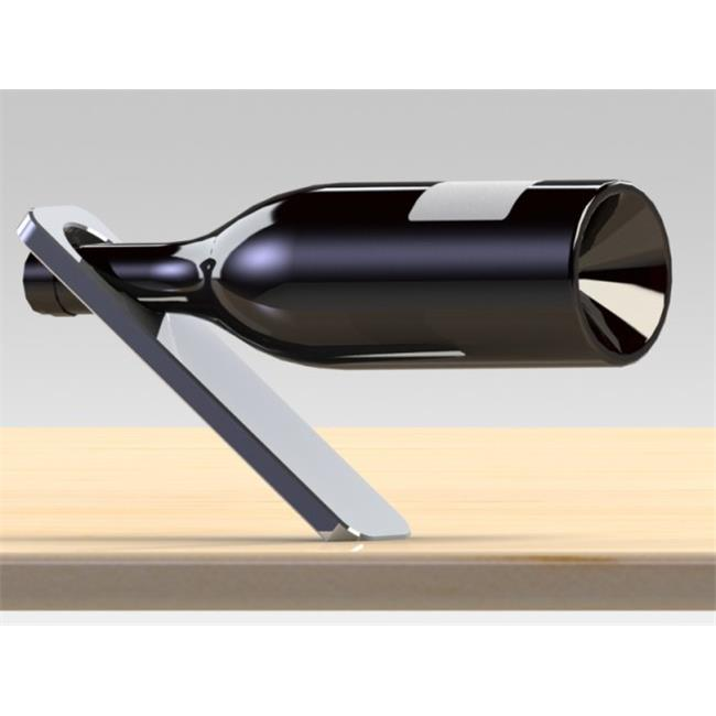 Oblique wine bottle holder
