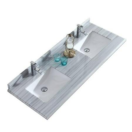 Laviva Forever 60'' Double Bathroom Vanity Top 60 Double Sink