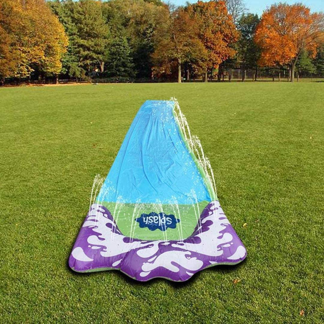 15.5 FT Lawn Water Slides Slip , Rainbow Slip Slide Play ...