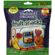 YumEarth Organics Banana, Cherry, Peach & Strawberry Fruit Snacks, 3.5 oz, (Pack of 12)