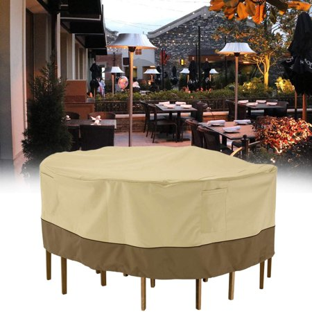 christmas clearance round patio table chair set cover durable and water resistant outdoor. Black Bedroom Furniture Sets. Home Design Ideas